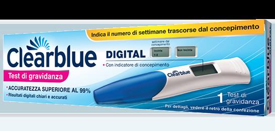 Test di gravidanza digitale clearblue for Test d gravidanza