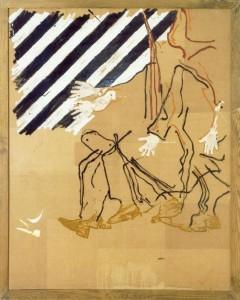 Mario Schifano A la Balla, 1977, acrilici su carta 146x116 cm
