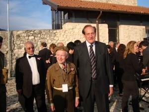 Wojtek Pankiewicz con Wojtek Narebski a Montecassino