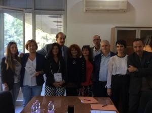 La delegazione sdi Kalòs col Direttore Artistico del Conservatorio